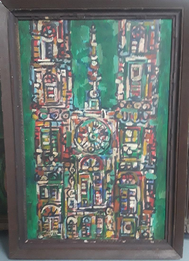 Rene Portocarrero, (Cuban 1912-1985) Oil On Canvas 1959