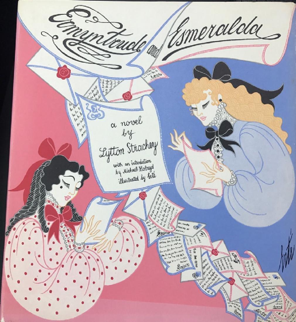 Erte Original Gouache Framed with signed book Rare - 6