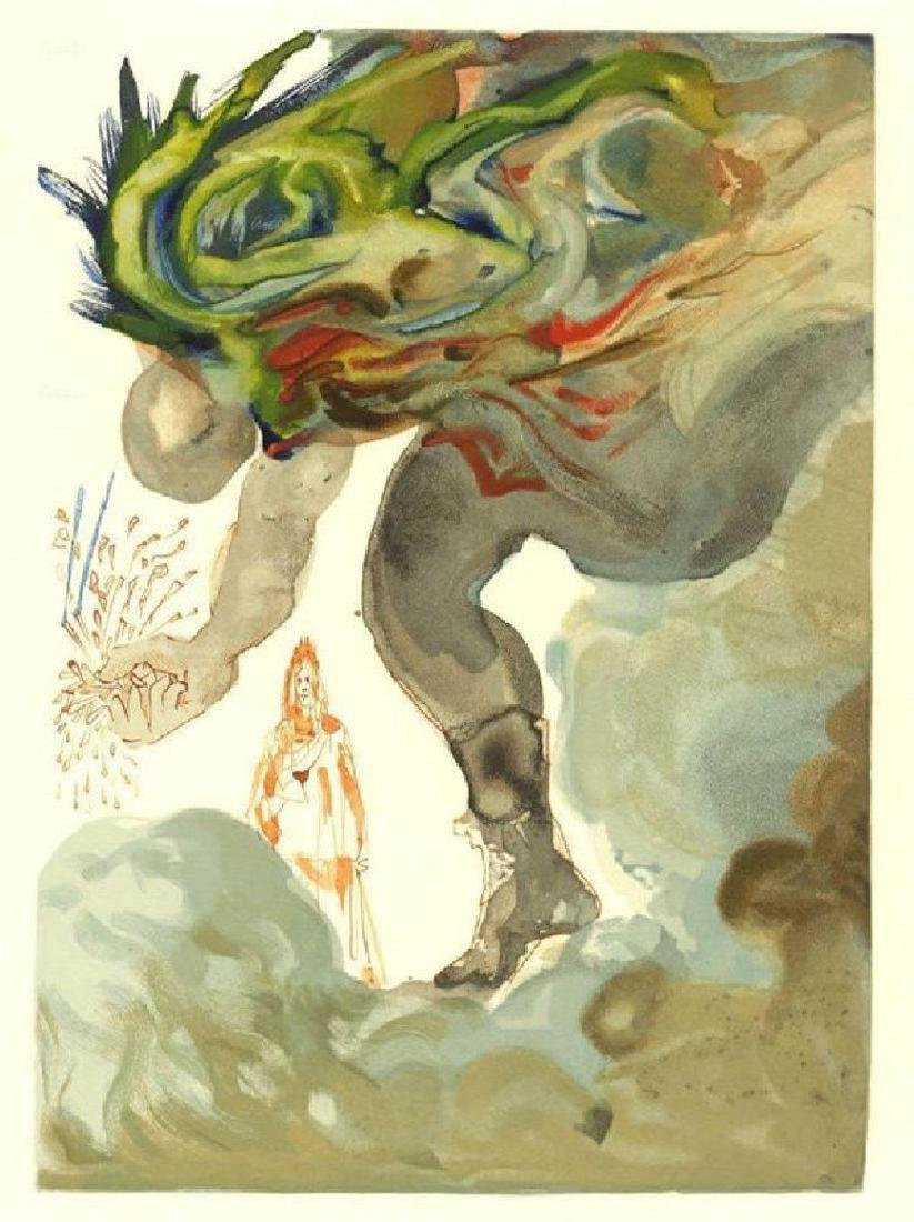 "Salvador Dali ""Giants"" Divine Comedy Suite Canto 24"