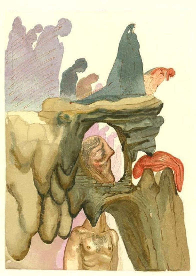 "Salvador Dali ""The Dishonest"" Divine Comedy canto 23"