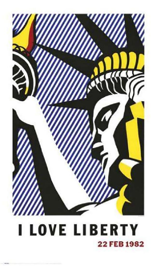 Roy Lichtenstein I LOVE LIBERTY 1982 offset lithograph