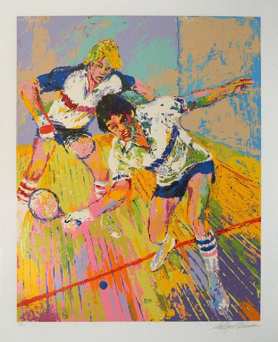 "Leroy Neiman ""Racquetball"" Hand S/N LE Serigraph"