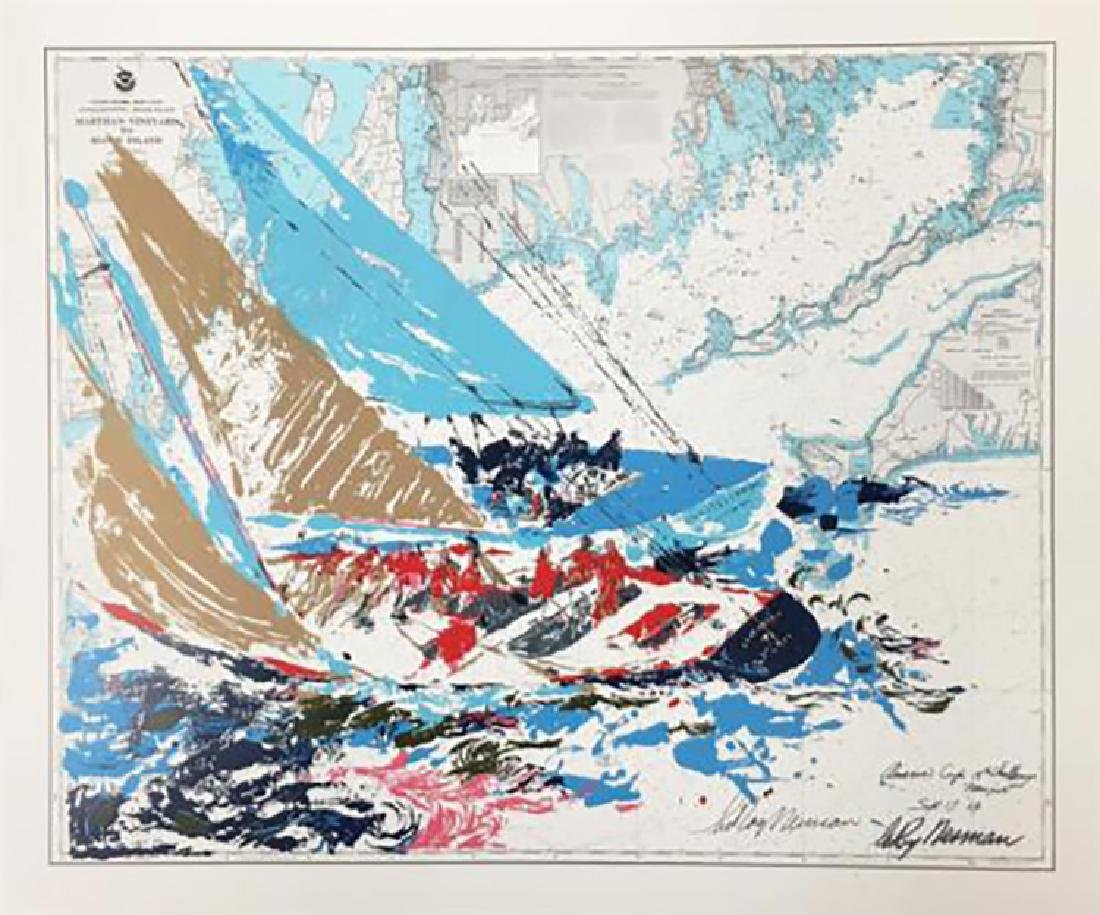 "Leroy Neiman ""America's Cup"" Hand Signed Silkscreen"
