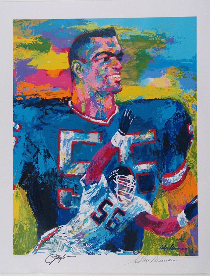 LeRoy Neiman , Lawrence Taylor double signed Lithograph