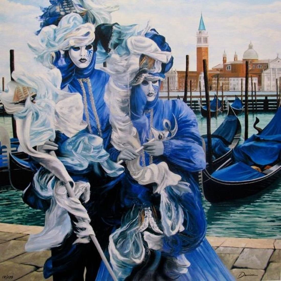"""Graham Denison, """"Let Carnival Begin"""" Embellished Giglee"""