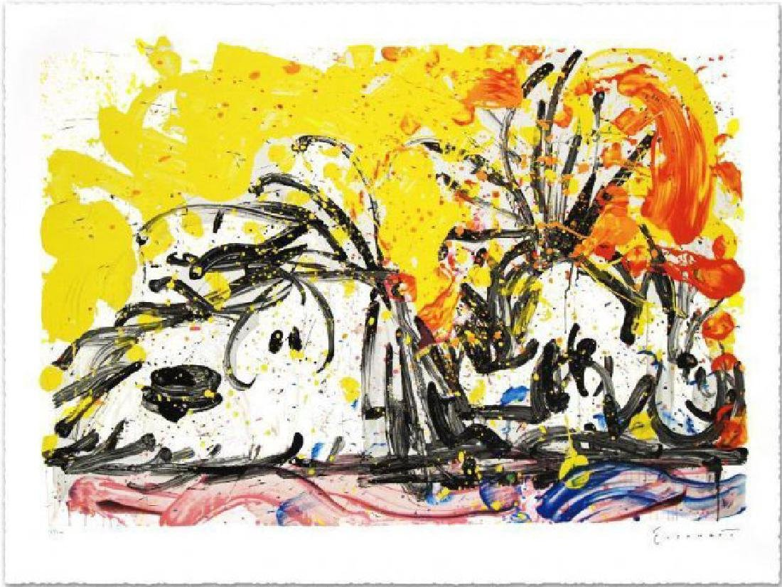"Tom Everhart ""blow Dry"" hand signed & # lithograph"