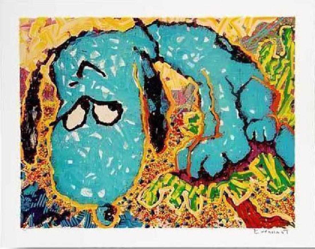 "Tom Everhart ""Hollywood Hound Dog"" HS/N litograph"