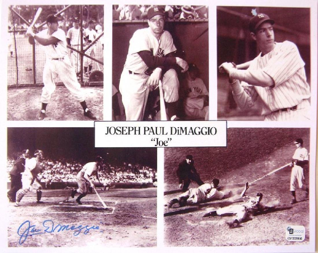 memorabilia Joe DiMaggio Autographed  8X10 Photo