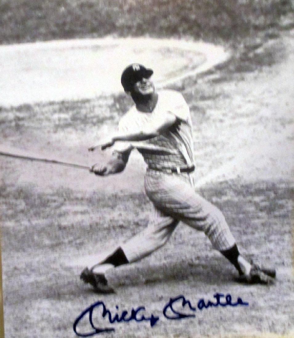 memorabilia Mickey Mantle Rare Autographed 8x10 Photo