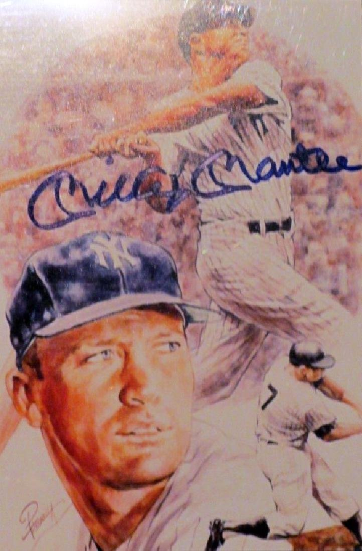 memorabilia Mickey Mantle Signed 8X10 Photo Litho