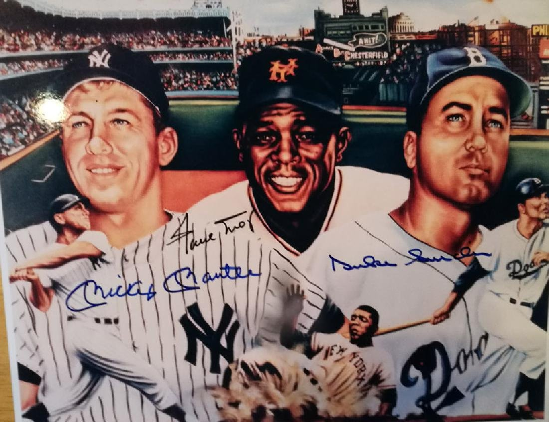 memorabilia MICKEY MANTLE WILLIE MAYS DUKE SNIDER