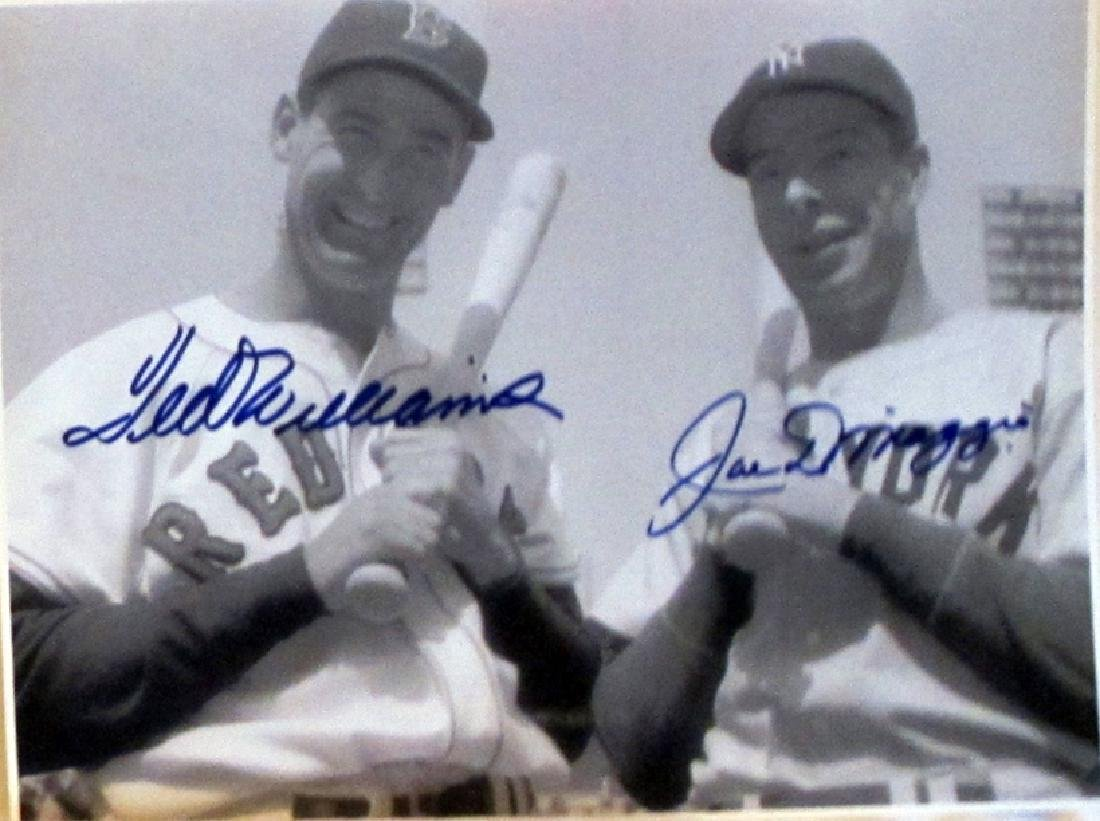 memorabilia Ted Williams and Joe DiMaggio Autogrpahed