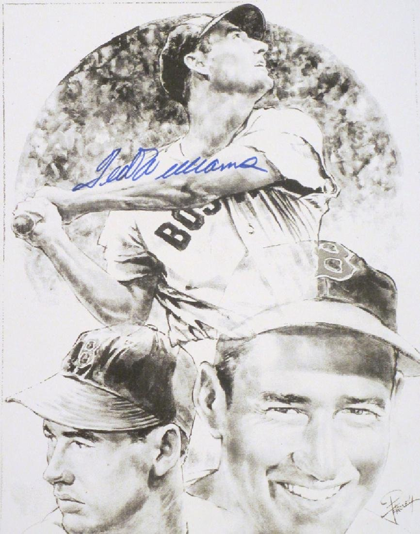 memorabilia Ted Williams autograped 8x10 lithophoto