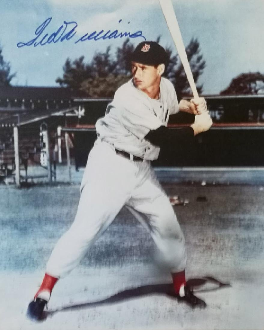 memorabilia TED WILLIAMS AUTOGRAPHED 8X10 PHOTO