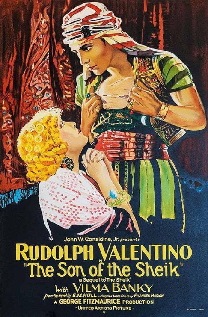 "Movie Poster ""The Son of the Sheik"" Rudolph Valentino"