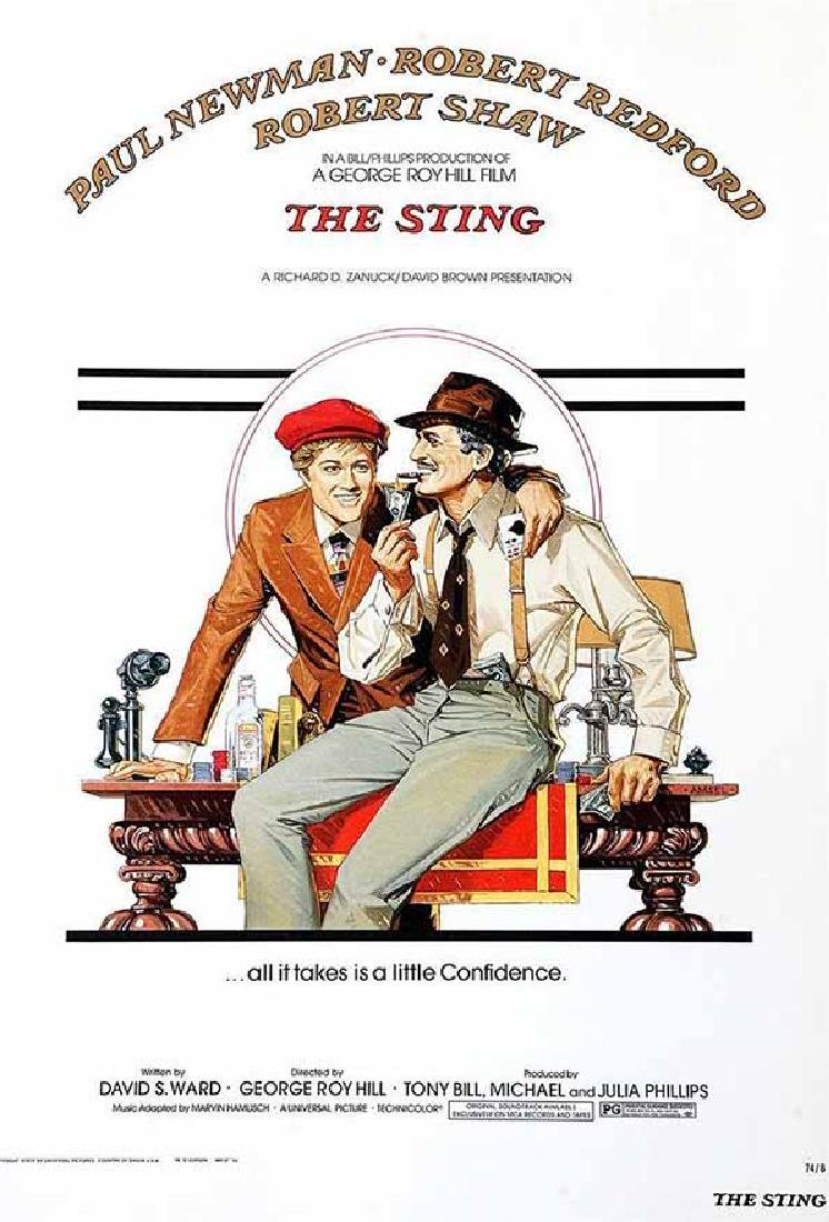 "Movie Poster ""The Sting"" Paul Newman Robert Redford S2"