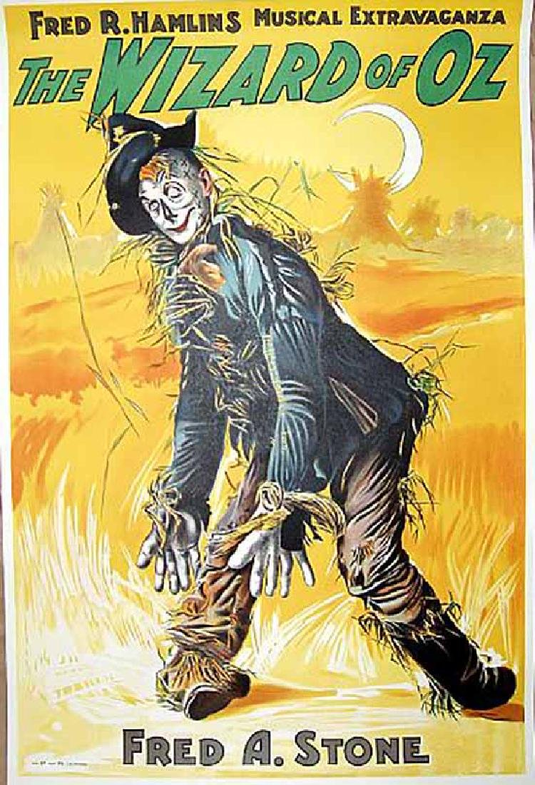 "Movie Poster ""The Wizard of Oz"" Fred A Stone S2"