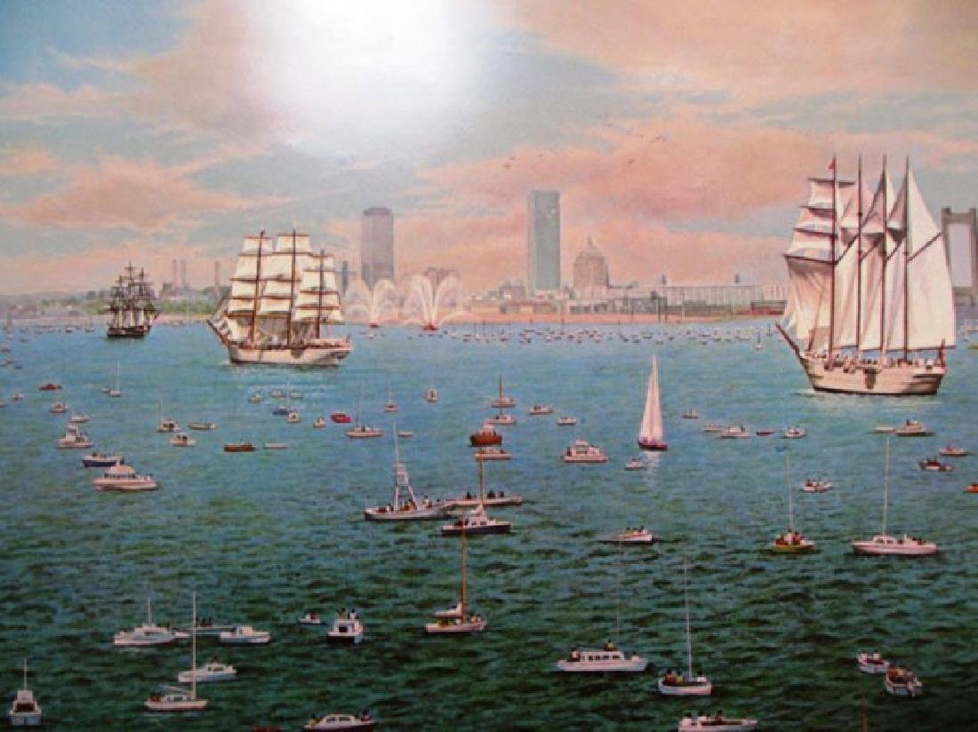 "Norman Gautreau ""Tall Ships Visit Boston- Bicentennial"""