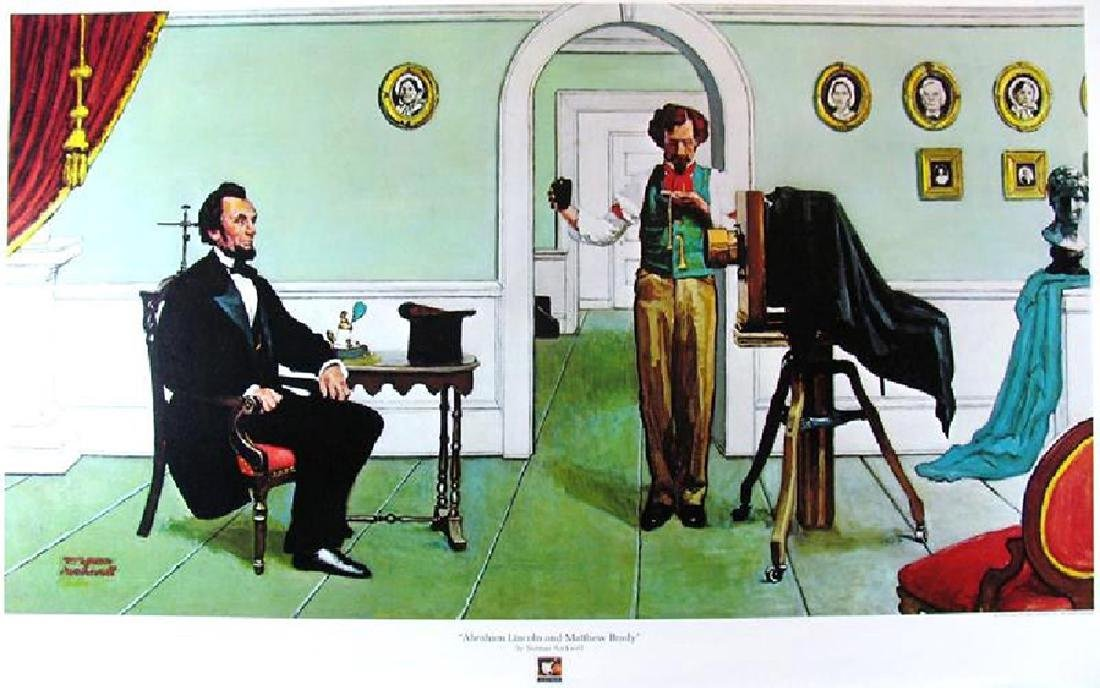 norman rockwell abraham lincoln and matthew brady