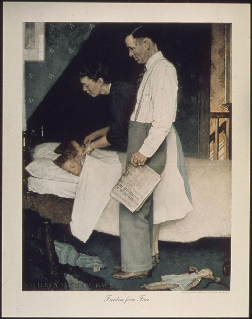 Norman Rockwell freedom from fear original collotype