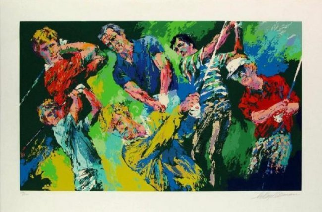 "Leroy Neiman ""Golf Winners"" hand signed/# serigraph"