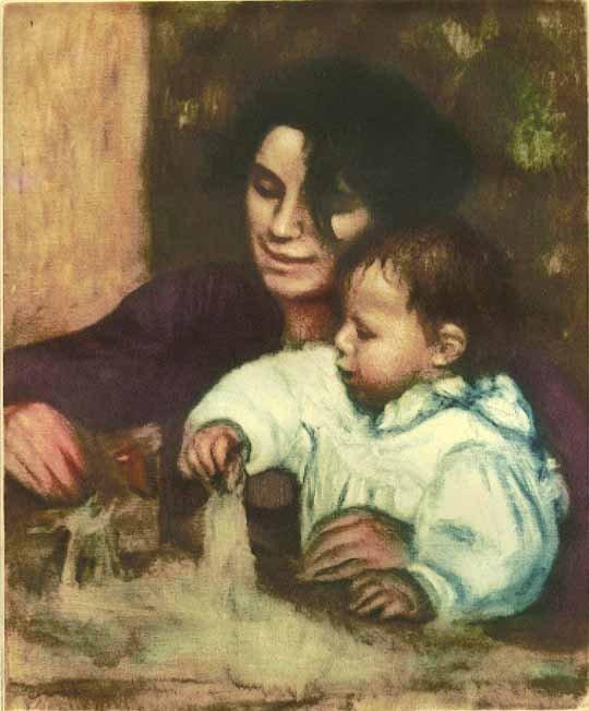 "Renoir ""La Femme au Mirroir"" Ambroise Vollard Ething"