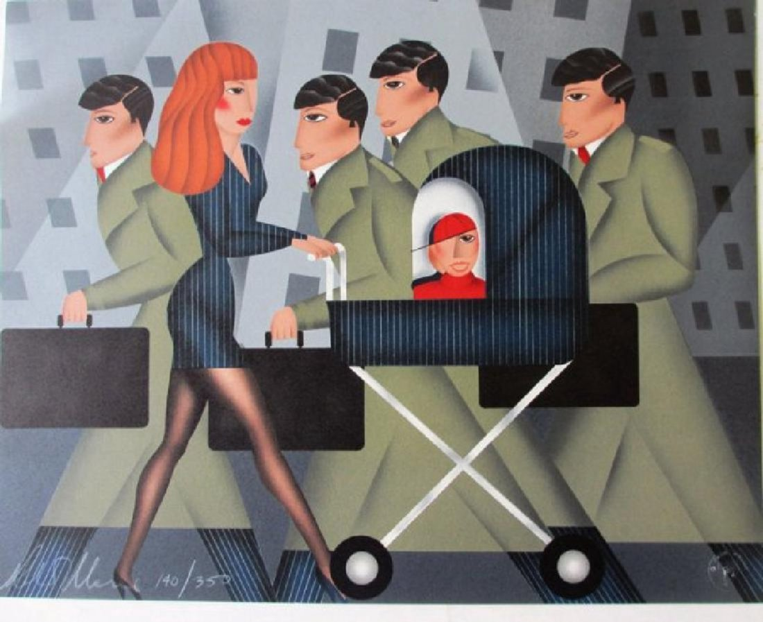 "Robin Morris ""Working Mom"" Signed Numbered Lithograph"