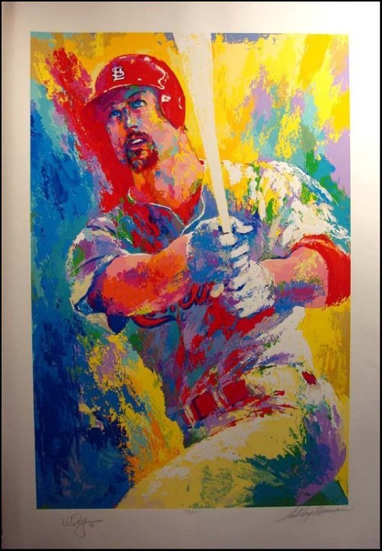 "LeRoy Neiman Dble Sign/# ""Mark McGwire"" serigraph"