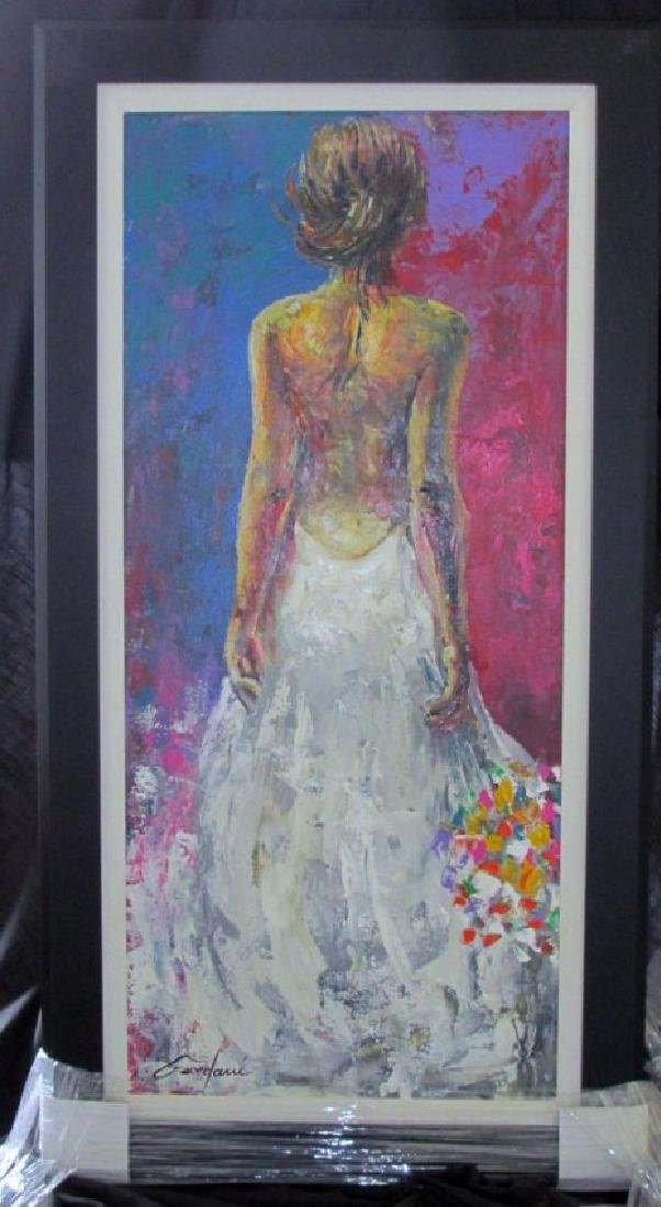 Gardani Original Oil on Canvas, Custom Framed Signed