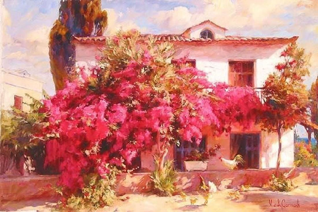 "GARMASH ""in the Country"" Embellished Giclee canvas HS/N"