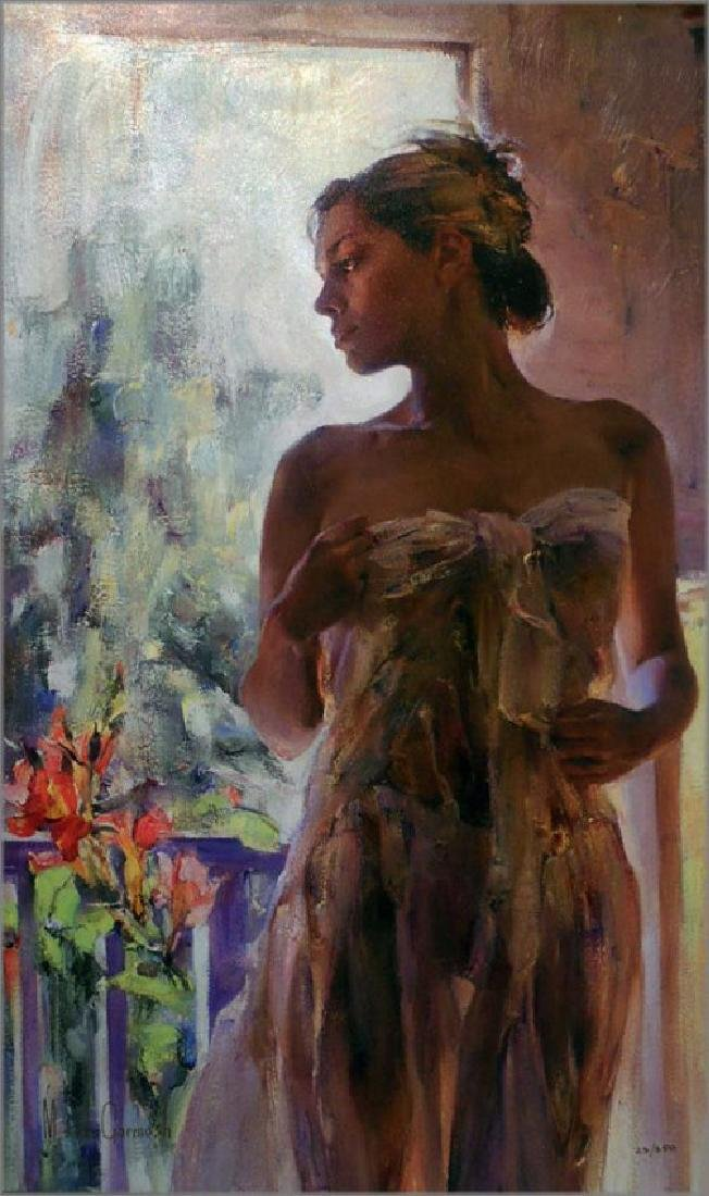 "Garmash ""Rare Beauty"" embellished Giclee Canvas HS/N"