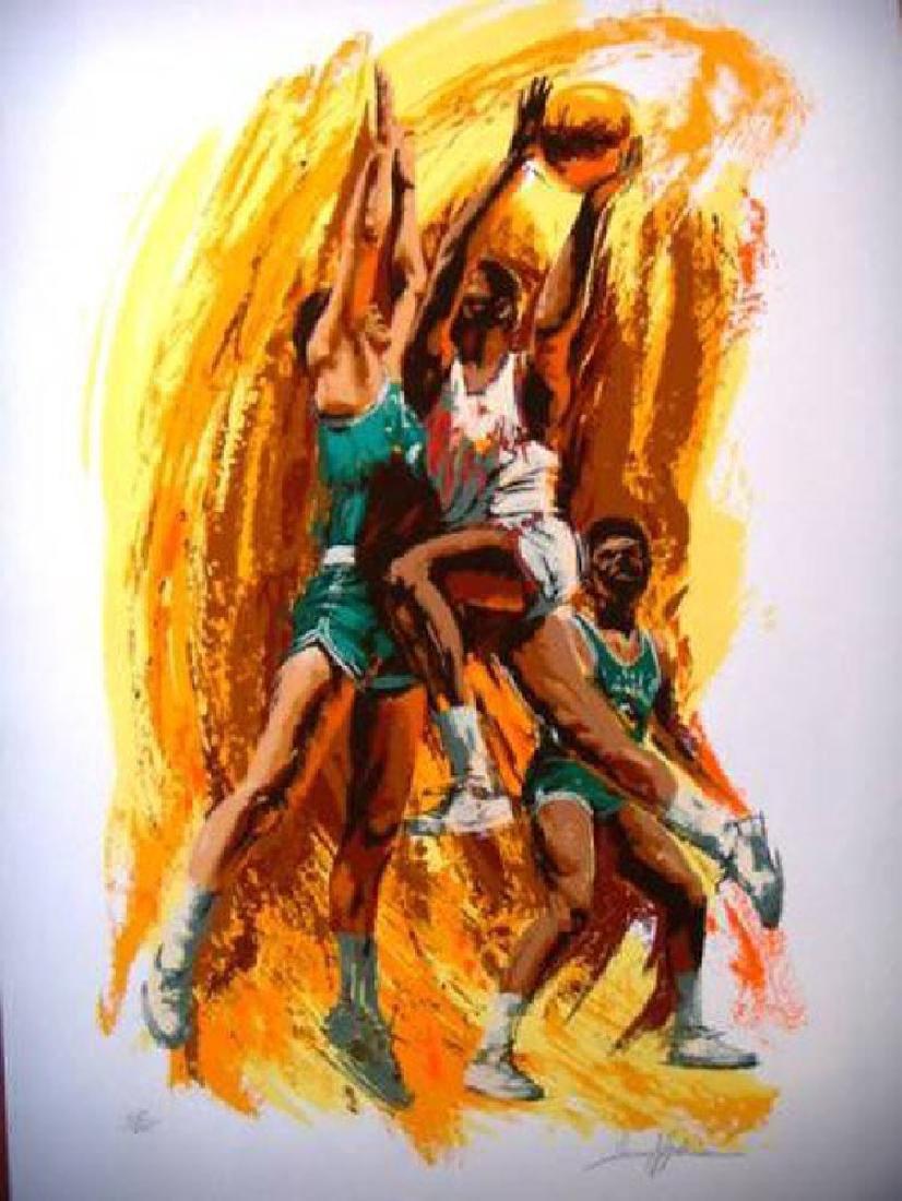 """Harry Schaare """"Basketball"""" HS/N Silkscreen on Paper"""