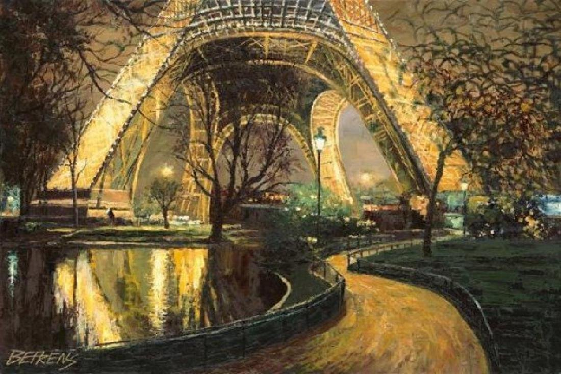 "HOWARD BEHRENS ""TWILIGHT AT THE EIFFEL TOWER"""