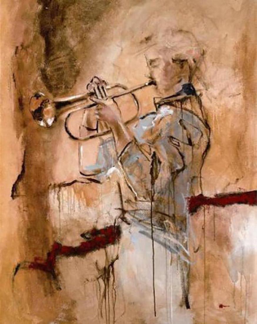 "Joarez ""Deep Breath"" S/N LE Giclee Canvas Trumpet"