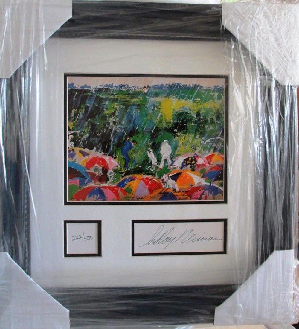 "Leroy Neiman ""Arnie in the Rain"" Arnold Palmer Golf Mas"