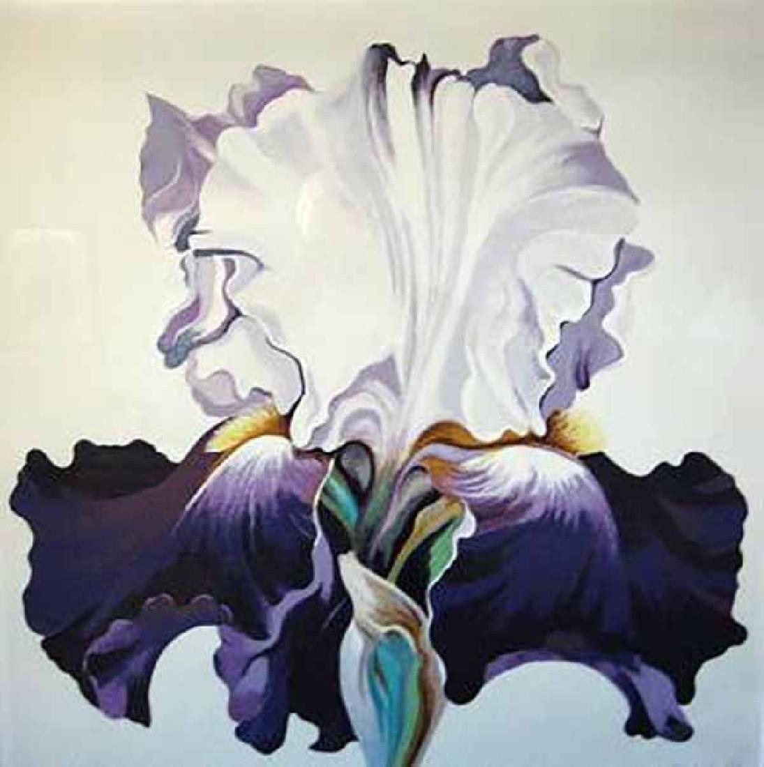 "Lowell Nesbitt ""Blue Iris"" HS/N Serigraph"