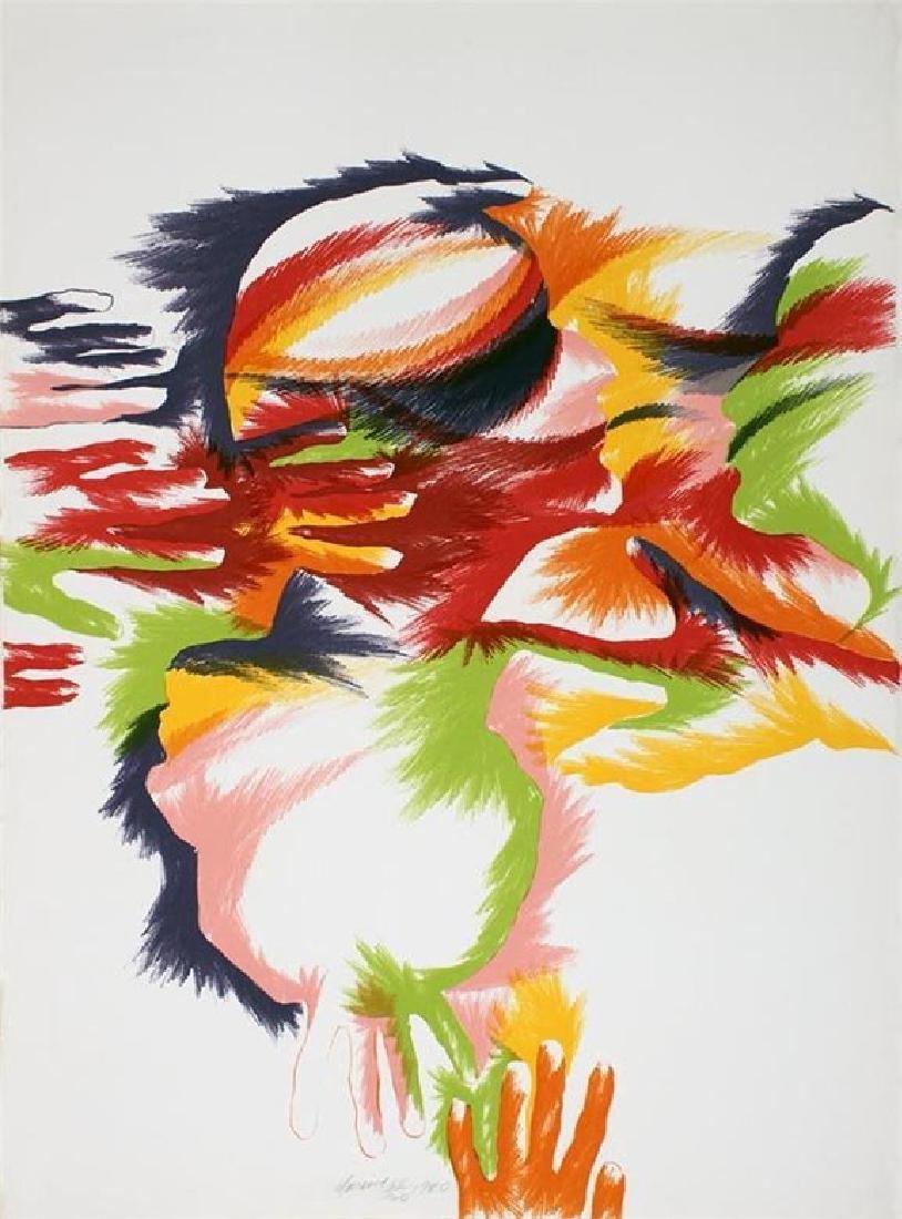 "Marisol Escobar ""Budding"" colorful lithograph HS/N 1980"