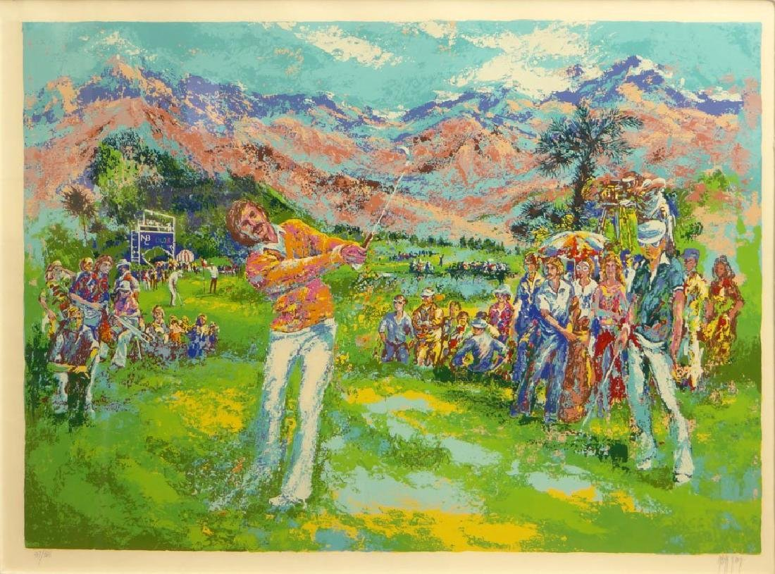 Mark King Golf Serigraph Pencil Signed & Numbered