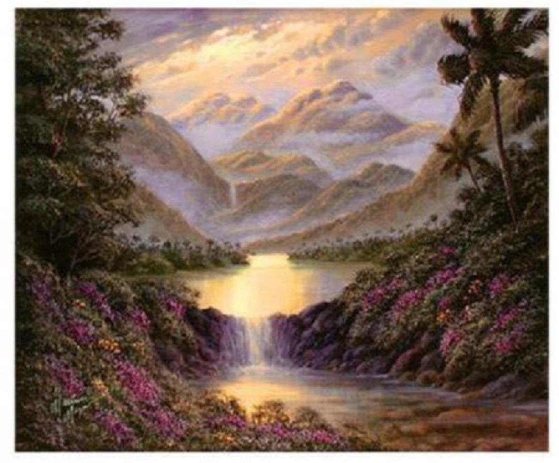 """Maurice Meyer """"Island Mountains & Lakes"""" HS/N giclee"""