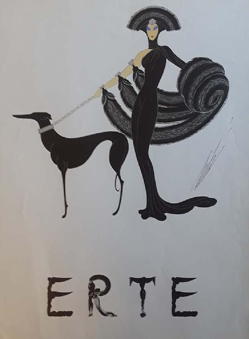 Erte, Hand signed poster