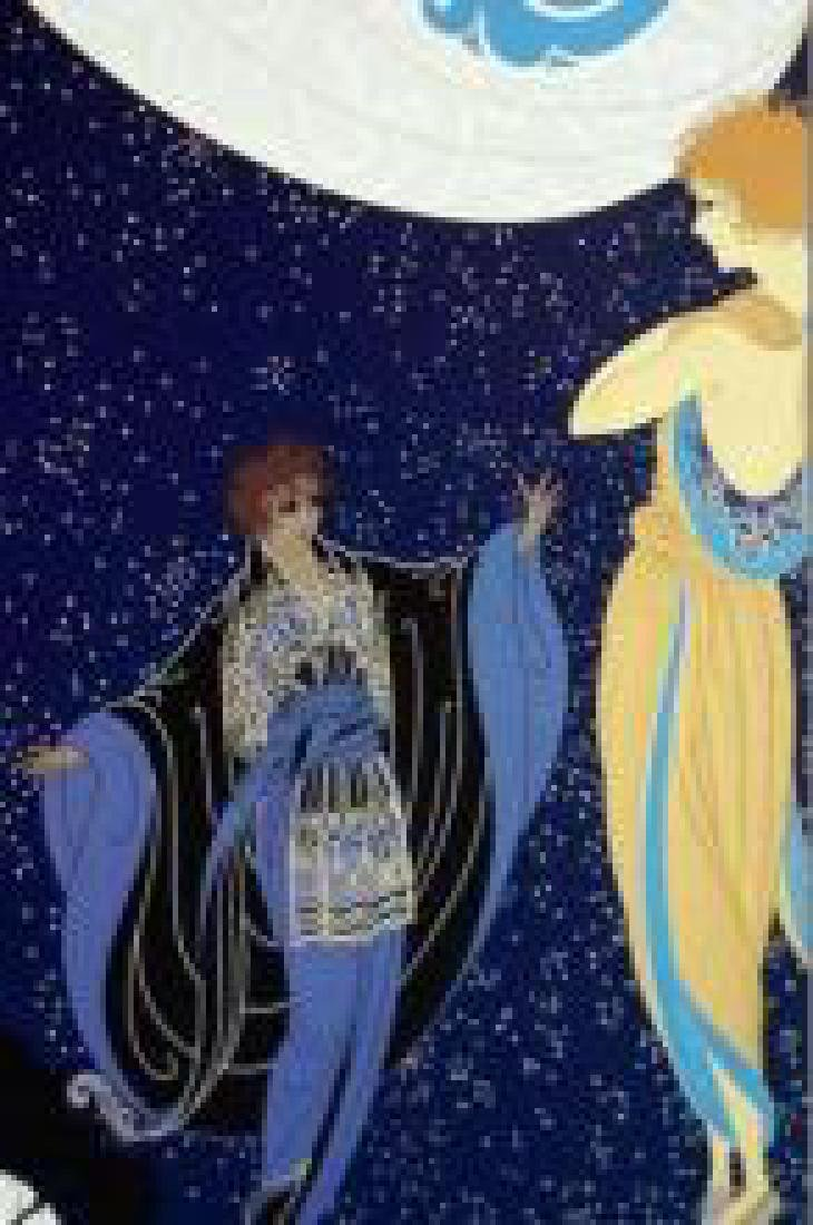 "Erte ""Nocturne"" Two Beauties in Gowns HC2/35 Hand"