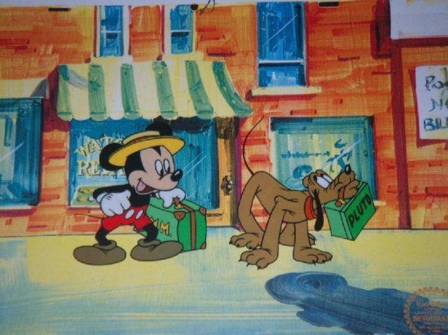 """Disney Mickey Mouse Animation Sericel """"Mr. Mouse Takes"""