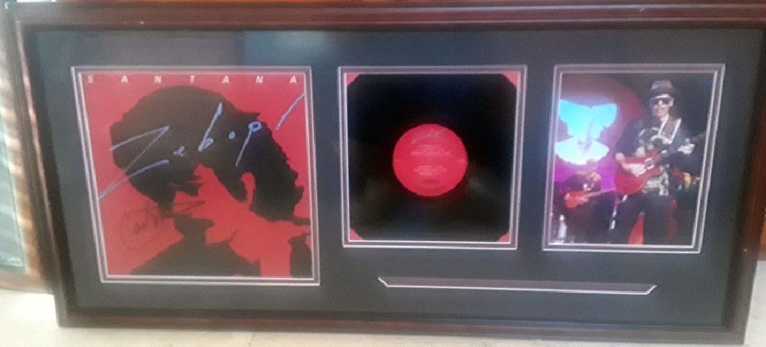 Memorabilia, Carlos Santana Signed Record Framed