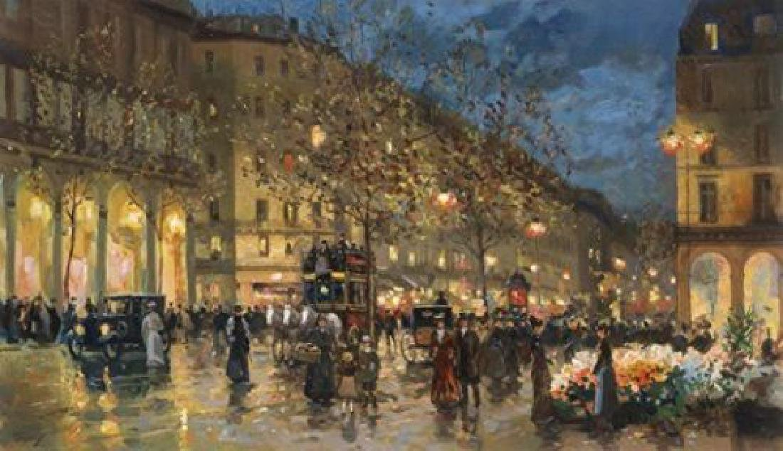 "Valery Gromov ""Evening Lights"" Hand Embell. Giclee"