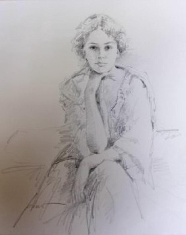 "Pino Original drawing Hand signed 16"" x 20"" COA"