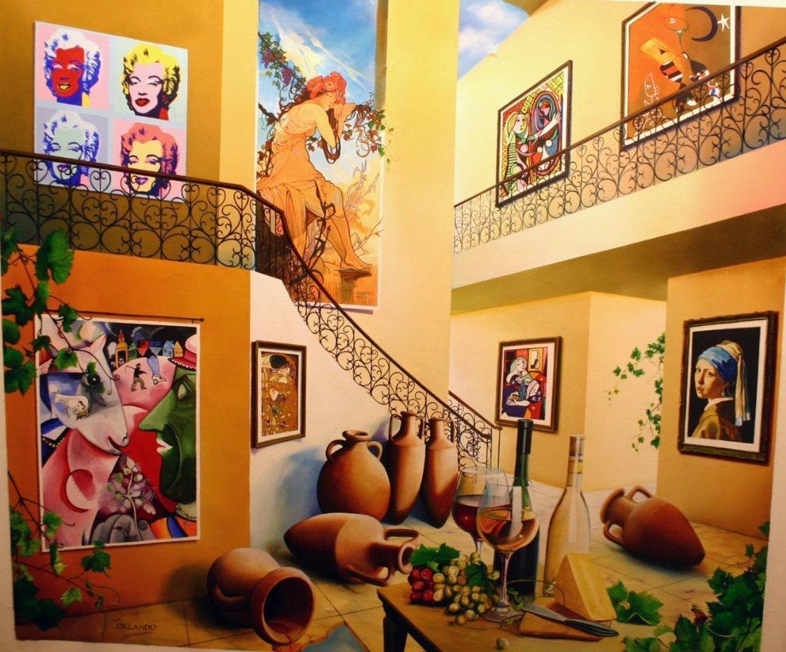 """Orlando Original Canvas 42x50 """"Modern Reverie"""""""