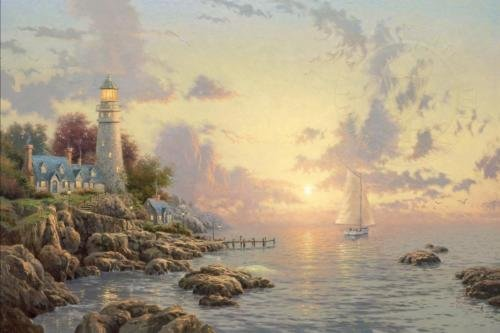 "Thomas Kinkade ""The Sea of Tranquility"" Signed proof"