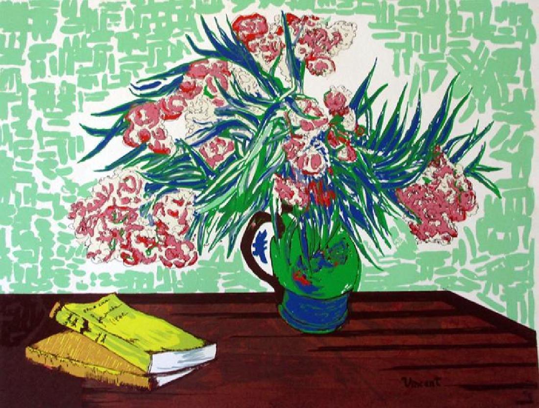 """Vincent VAN GOGH Lithograph After """"Vase sur la table"""""""