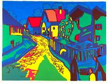Wassily Kandinsky After City Street Lithograph