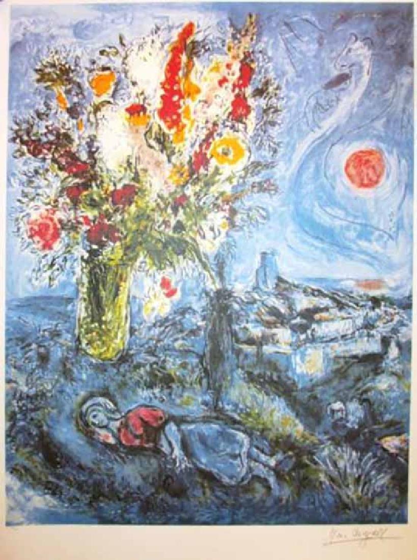 "Marc Chagall ""La Dormeuse Aux""Lithograph Facsimile"